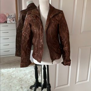 BUCKLE {Daytrip} Brown Faux Leather Jacket